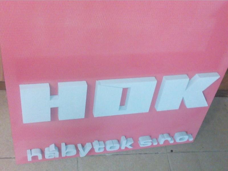 3d písmo polystyrén